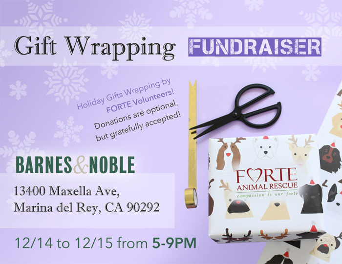 Gift Wrapping Fundraiser 12/14 and 1215