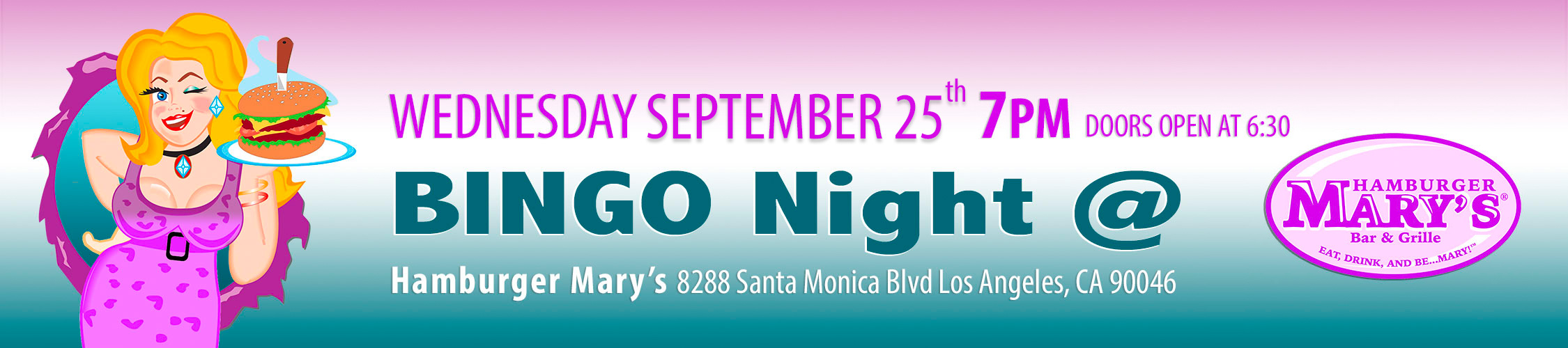 Bingo Night – September 25, 2019 at 7 PM